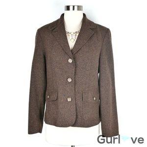 L.L. Bean Petite Brown Wool Blazer Size S